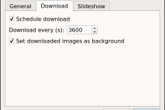 Software download tab in preferences in Linux Debian (mate)