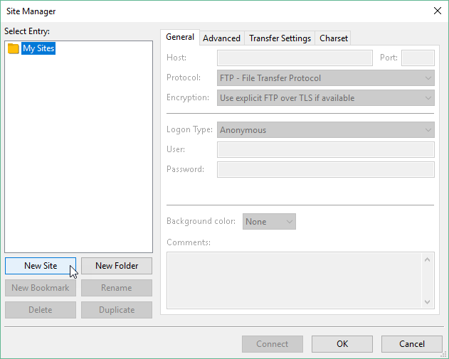 Fig43-FileZilla-SiteManager-NewSite